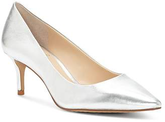 Vince Camuto Women's Kemira Leather Pointed Toe Mid Heel Pumps