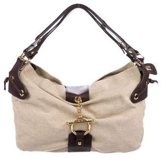 Marni Leather-Trimmed Canvas Hobo