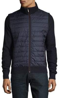 Bugatti Quilted Full-Zip Sweater
