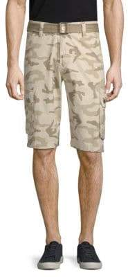 X-RAY Jeans Camouflage Cotton Cargo Shorts