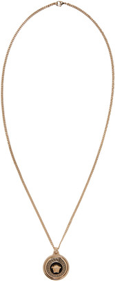 Versace Gold Enamel Medusa Necklace