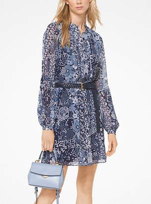 Michael Kors Mixed Floral Chiffon Shirtdress