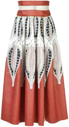 Sophie Theallet printed A-line skirt