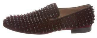 Christian Louboutin Spike-Embellished Smoking Slippers