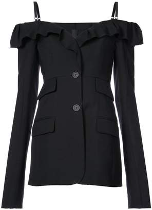 Vera Wang cold-shoulder fitted jacket
