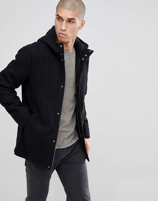 ONLY & SONS Hooded Wool Parka