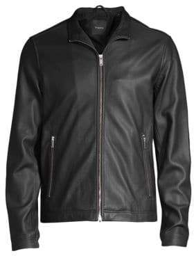 Theory Morvek Lkelleher Leather Moto Jacket