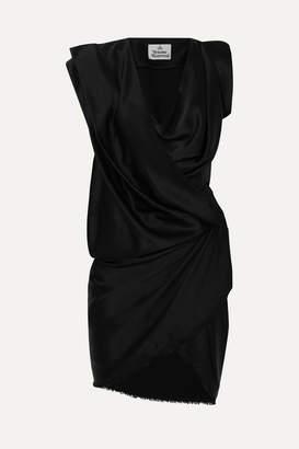 Vivienne Westwood River Draped Satin Mini Dress - Black