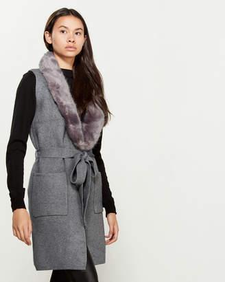 Love Token Renee Faux Fur Collar Vest