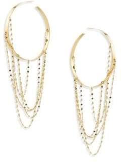 "Lana Bond Large Blake 14K Yellow Gold Vanity Hoop Earrings/2"""