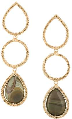 Rosantica hoop drop earrings