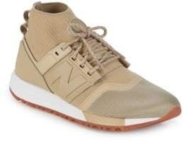 New Balance Mid-Cut Lace-Up Sneakers