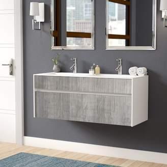 """Wade Logan Brockman 20"""" Wall-Mounted Double Bathroom Vanity Set Base"""