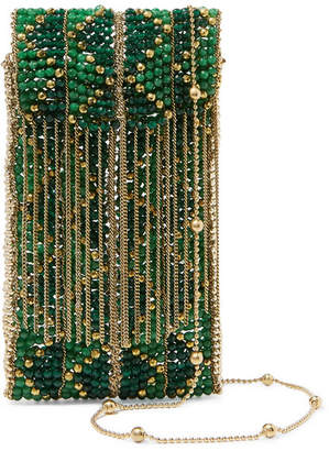 Rosantica Dakota Beaded Clutch - Green