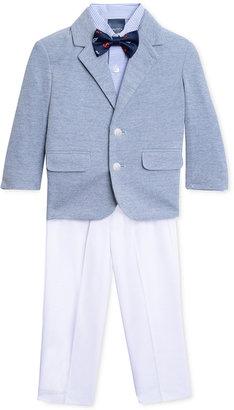 Nautica 4-Pc. Soft Suit Jacket, Stripe Shirt, White Pants & Bowtie Set, Toddler & Little Boys (2T-7) $89.50 thestylecure.com