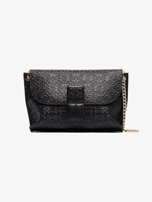 Loewe black avenue leather crossbody bag