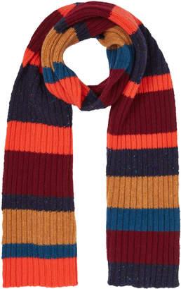 Jigsaw Chunky Wool Rib Stripe Scarf