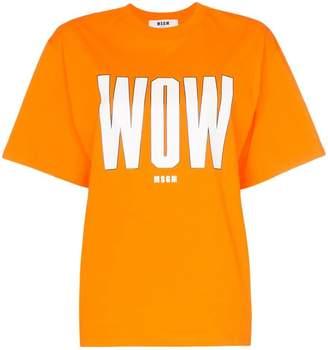 MSGM wow print cotton T-shirt