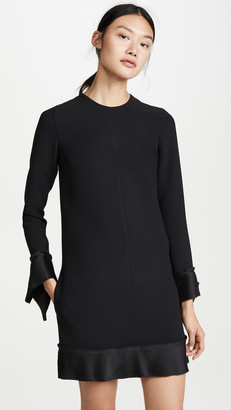 Victoria Victoria Beckham Pleat Detail Shift Dress