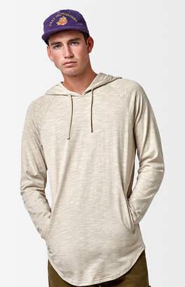 Pacsun Walker Hooded Long Sleeve Scallop T-Shirt