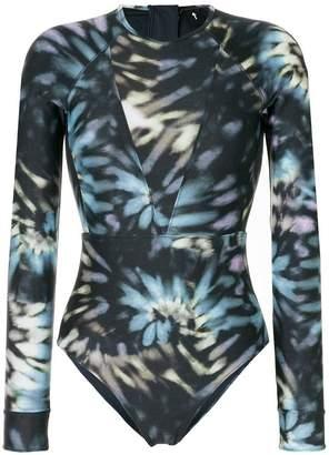 The Upside tie dye long sleeve swimsuit
