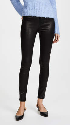 Rag & Bone High Rise Skinny Leather Pants