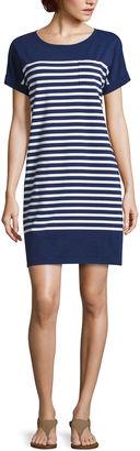 LIZ CLAIBORNE Liz Claiborne Short Sleeve A-Line Dress $44 thestylecure.com