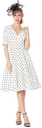 Unique Vintage 1950s Delores Swing Dress w/ Sleeves