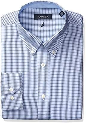 Nautica Men's Microgingham Buttondown Collar Dress Shirt