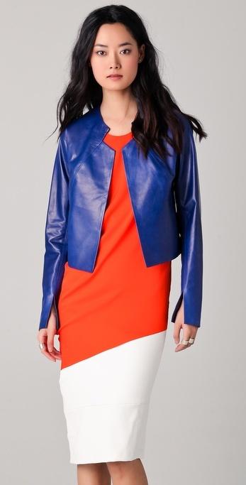 Zero + Maria Cornejo Leather Avi Jacket