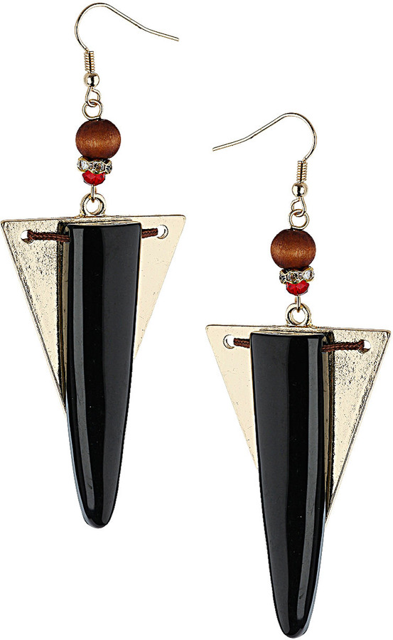 Topshop Triangle and Tusk Earrings