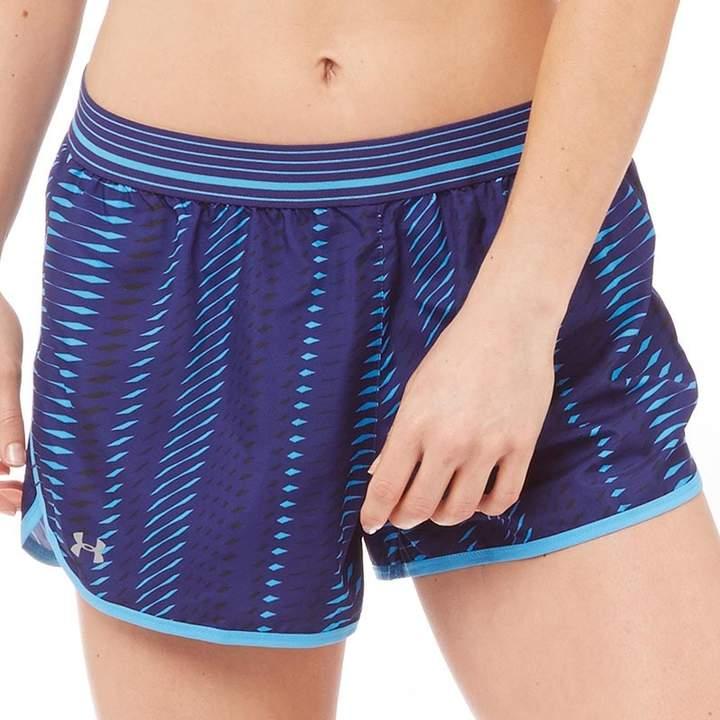 Damen HeatGear Perfect Pace Printed Shorts Navy