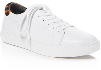Kenneth Cole Kam Lace Up Sneakers with Leopard Print Calf Hair $120 thestylecure.com