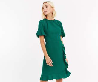 Oasis LONG RUFFLE WRAP DRESS