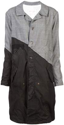 Greg Lauren contrast trench coat