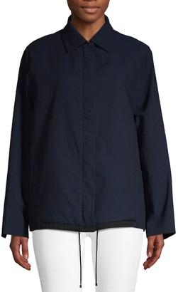 Akris Spread Collar Wool-Blend Jacket