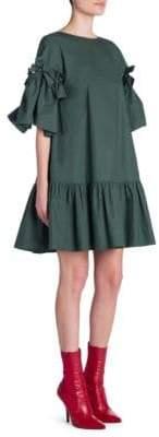 Fendi Bow Poplin Shift Dress