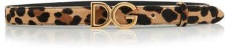 Dolce & Gabbana Leopard-Print Pony Hair Belt