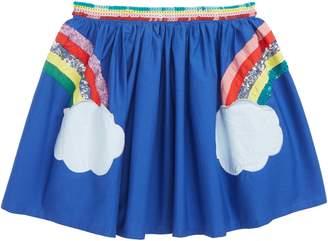 Boden Mini Sequin Applique Rainbow Skirt