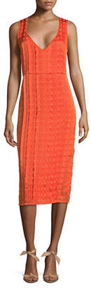 Diane von Furstenberg Grid Print Sheath Dress
