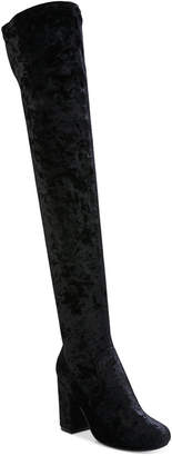 Carlos by Carlos Santana Rumor Velvet Block-Heel Over-The-Knee Boots $99 thestylecure.com