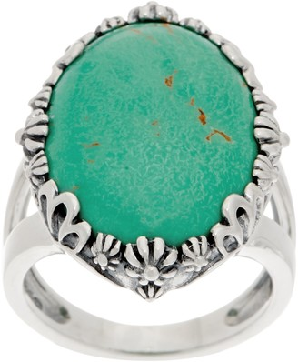 American West Oval Greenish Blue Turquoise Bold Ring