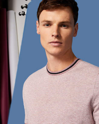 Ted Baker TIME Striped knitted T-shirt