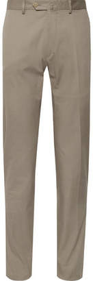 Caruso Stone Slim-Fit Cotton-Blend Suit Trousers