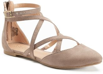LC Lauren Conrad Glow Women's Pointed-Toe Flats $49.99 thestylecure.com