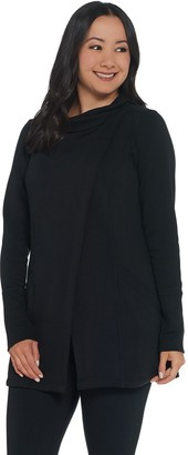 Susan Lucci Collection Cowl Neck Long Sleeve Jacket