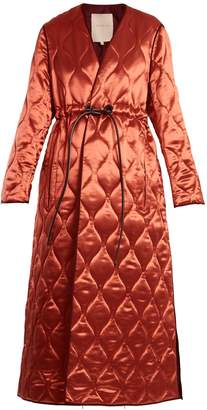 Roksanda Toledo V-neck quilted satin coat