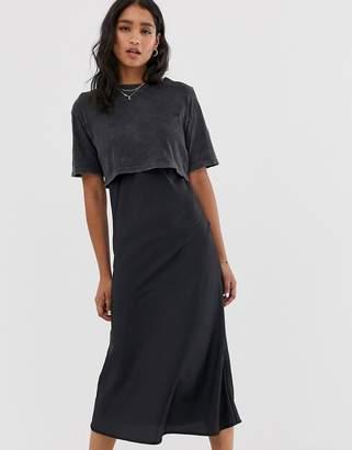 AllSaints benno tee slip dress