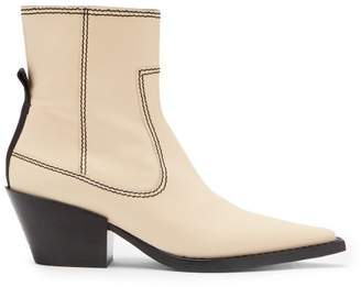 Joseph Albias Leather Ankle Boots - Womens - Cream
