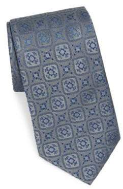 Charvet Silk Diamond Pattern Tie